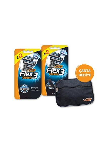 Bic Flex 3 Classic 3 Bıçaklı Tıraş Bıçağı 4+2 Li Blister X 2 Adet
