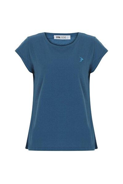 Gymlegend Kadın Petrol Pike Kısa Kollu Basic Tişört