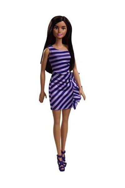 Barbie Pırıltı Barbie Bebekler - Mor Çizgili Elbiseli FXL69-T7580