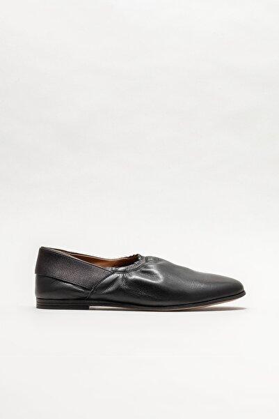 Elle Shoes Kadın Siyah Deri Babet