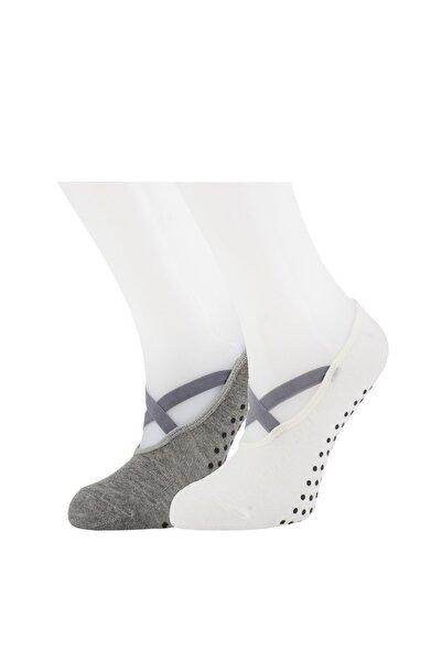Moyra Socks 2'li Kadın Babet Pilates Ve Yoga Çorabı