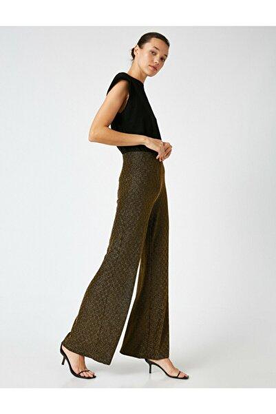 Koton Kadın Altın Desenli Pantolon 1KAK44571FK