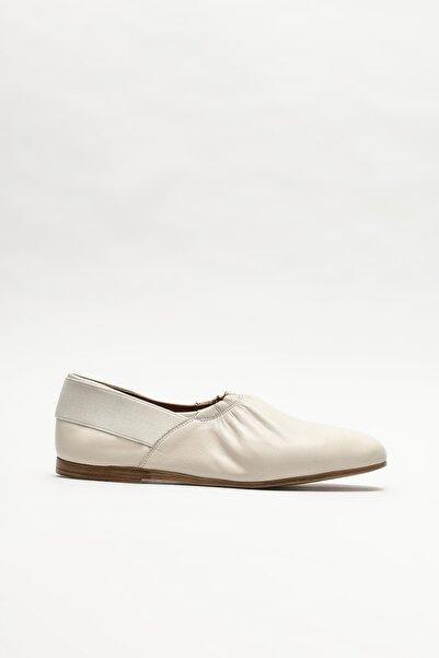 Elle Shoes Kadın Bej Deri Babet
