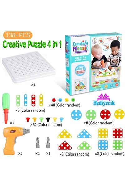 BİRLİK TOYS 198 10b Yb277839 3d Matkaplı Creative Puzzle