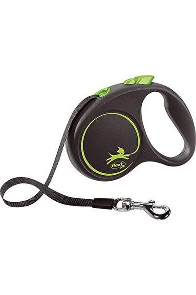 Flexi Black Design Yeşil Şerit Small 5 Metre