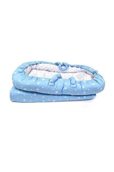 Sevi Bebe Unisex Bebek Mavi Anne Yanı Reflü Yatağı 2732