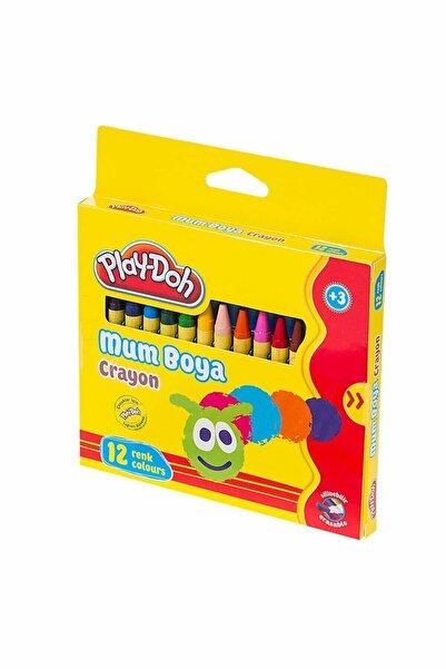 Play Doh 12 Renk Crayon Mum Boya Silinebilir Cr004