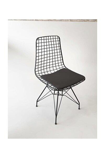224home Tel Sandalye Siyah Cafe/restaruant/mutfak