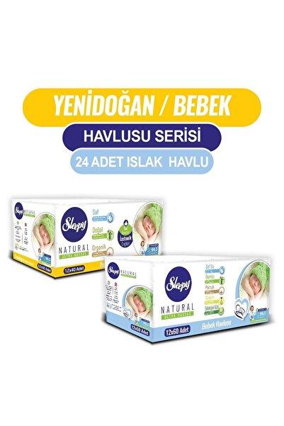 Sleepy Natural Yenidoğan 12x40 + Bebek Havlusu 12x60
