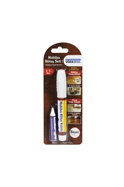 Vodaseal Mobilya Rötuş Seti Ahşap Dolgu Kalemi Çizik Çatlak Kapatıcı Beyaz