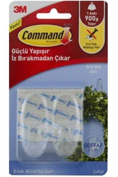 COMMAND 17091 Orta Boy Şeffaf Askı