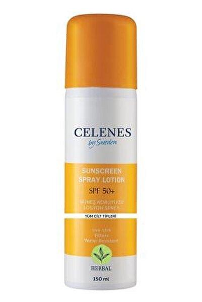 Celenes Herbal Güneş Koruyucu Losyon Sprey 50 Spf 150ml / Tüm Cilt Tipleri