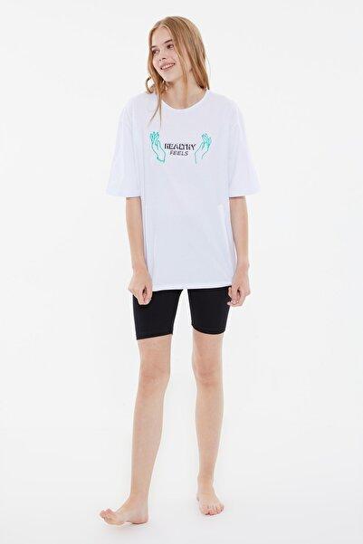 TRENDYOLMİLLA Baskılı Örme Pijama Takımı THMSS21PT1116