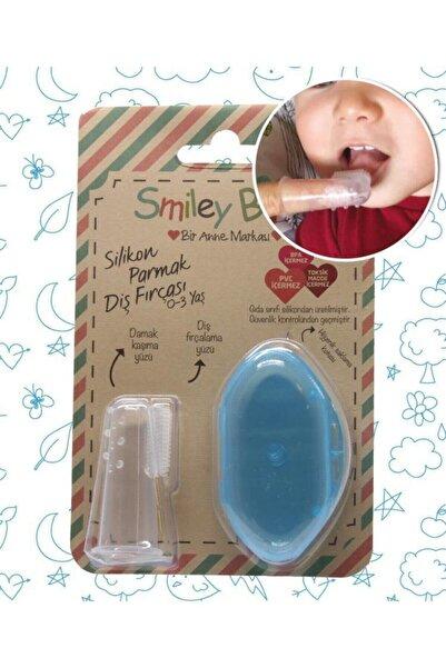 SMILEY Baby Mavi Saklama Kaplı Parmak Fırça