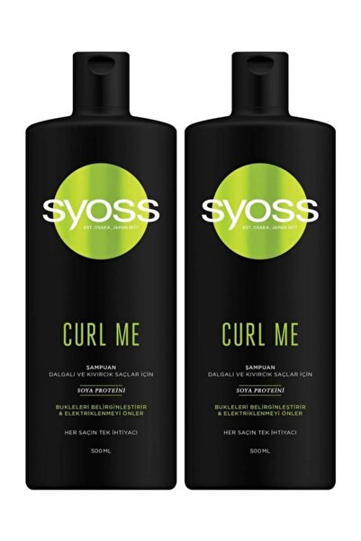 Syoss Curl Me Bukle Belirginleştirici Şampuan 500 ML 2'li