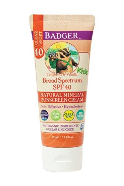 Badger Clear Zinc Çocuk Güneş Kremi Spf40