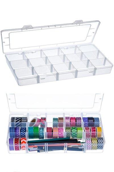 hodbehod 15 Bölmeli Ayarlanabilir Organizer Plastik Kutu