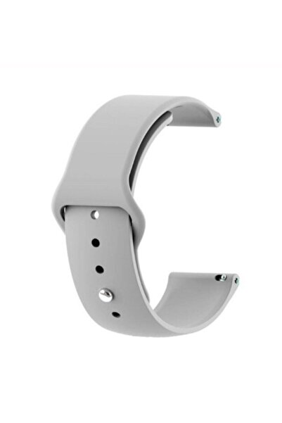 GTC Xiaomi Amazfit Bip Akıllı Saat Uyumlu Gri Silikon Kordon (20mm)