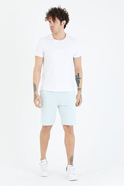 BREEZY Taç Kabaran Baskılı Basıc Şort Mavi Renk 01222
