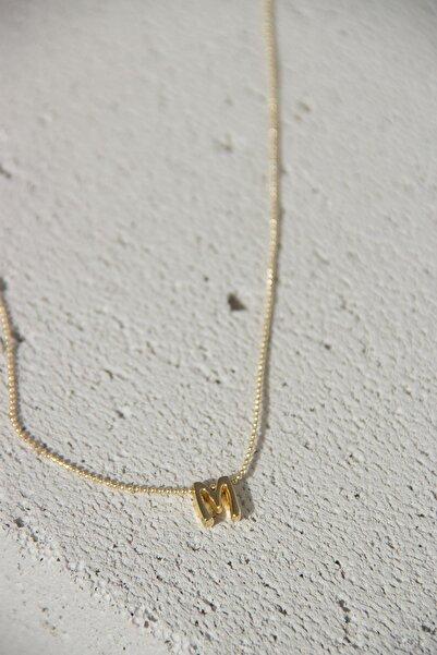 Modex Gold Üç Boyutlu Harf Kolye