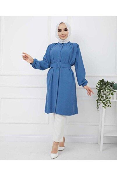 Vesmore Kadın Mavi Gömlek Talya