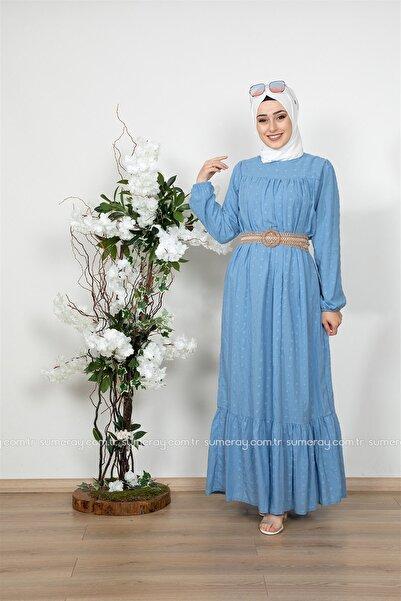 lamelif store Lamelif Elbise 5008 Mavi