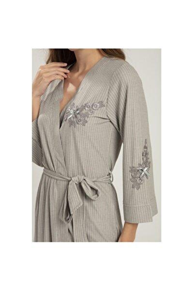 Bone Pijama Kadın Haki Sabahlık