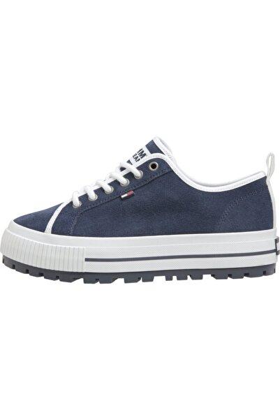 Tommy Hilfiger Kadın Mavi Wmns Cleated City Sneaker