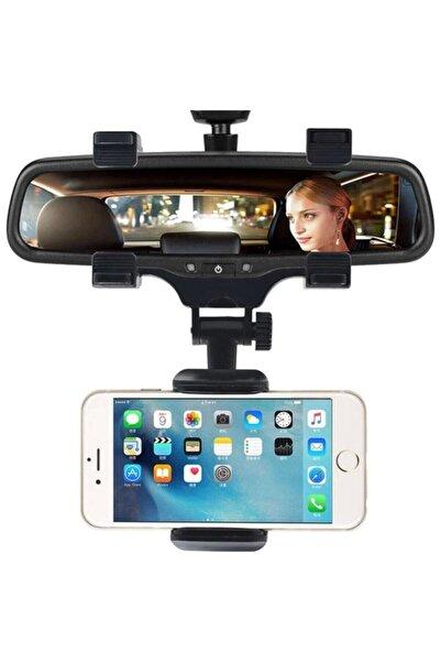 Teknoloji Gelsin Telefon Tutucu Dikiz Aynası Araç Içi 360 Derece Dönebilen Yeni Nesil Siyah