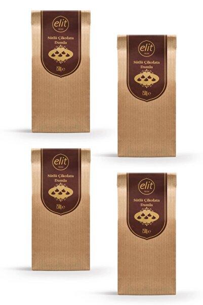 Elit Çikolata Sütlü Damla Çikolata 250g 4'lü Set (4X250G) Glutensiz