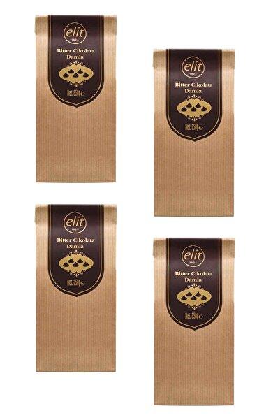 Elit Çikolata Bitter Damla Çikolata 250g 4'lü Set (4X250G) Glutensiz