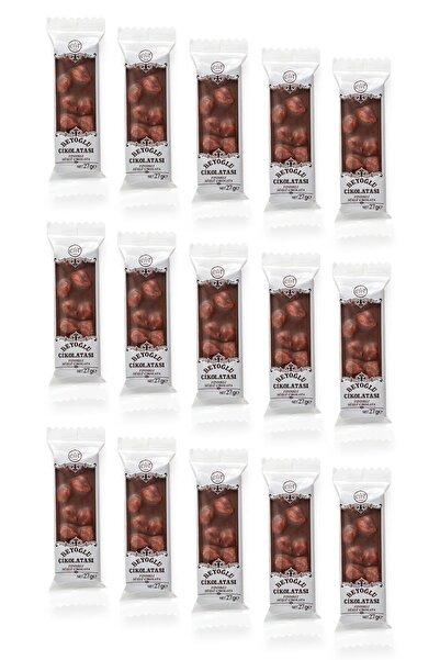 Elit Çikolata Meşhur Beyoğlu Çikolatası Fındıklı Sütlü Tablet Çikolata 15'li Set