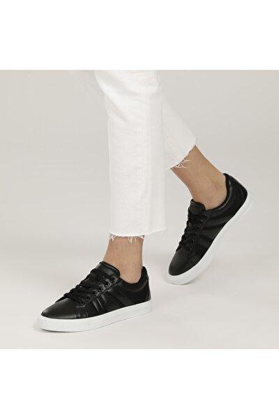 ART BELLA CS21007 1FX Siyah Kadın Havuz Taban Sneaker 101014592