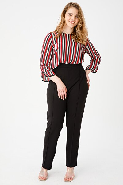 Ekol Kadın Beli Lastikli Çima Dikişli Pantolon
