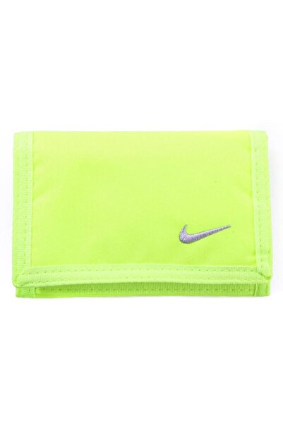 Nike Unisex NIKE BASIC WALLET VOLT/WOLF GREY / CUZDAN