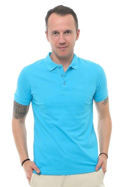 Cazador Erkek Aqua Mavi Polo Yaka T-shirt 4613