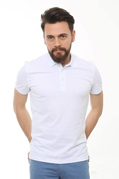 Cazador Erkek Beyaz Polo Yaka T-shirt 4613
