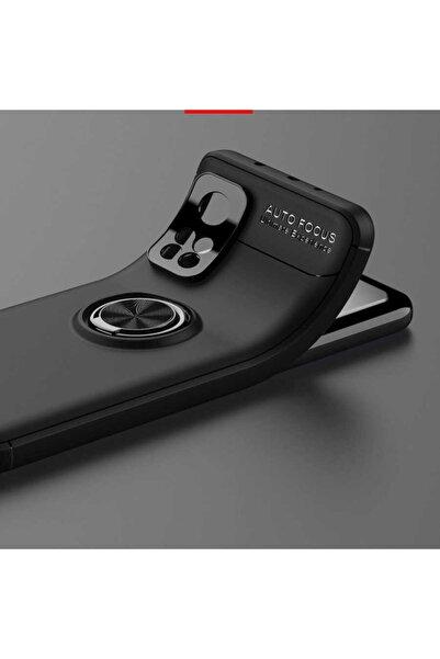 Xiaomi Cover Station Mi 10t Pro Yüzüklü Kılıf Kamera Korumalı Standlı Darbe Emici Autofocus Ravel Silikon