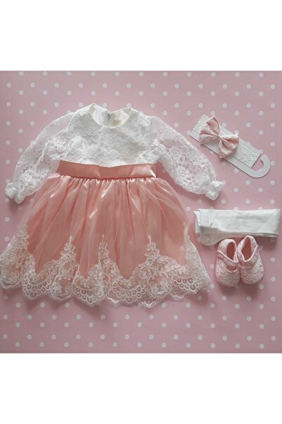Pugi Baby Kız Bebek Mevlüt Elbisesi Prenses Elbisesi Gelinlik Mevlütlük Hediyelik