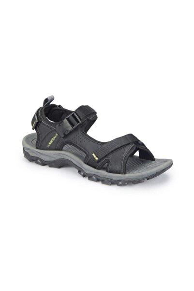 lumberjack Erkek Siyah Hafif Cırtlı Trekkıng Sandalet Ayakkabı Laggun