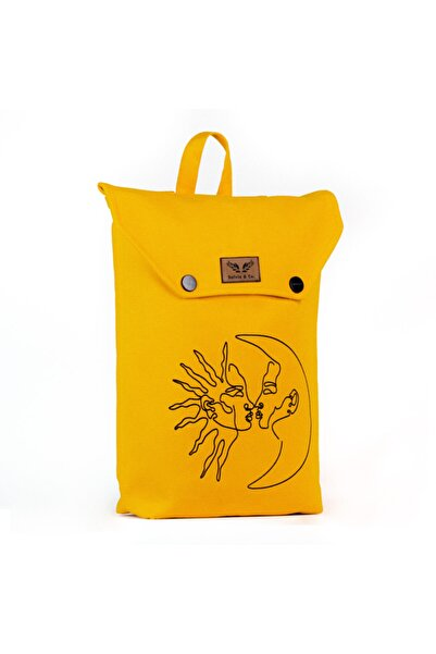 Salvia & Co. Unisex Sarı Sırt Çantası Vis À Vis