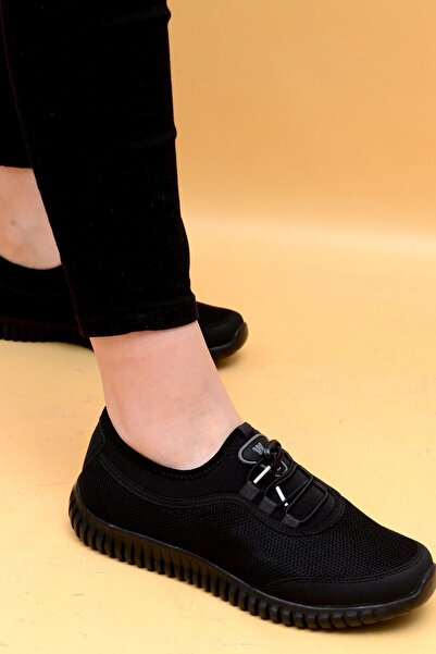 Evarmis Kadın Siyah Günlük Spor Ayakkabı 1042