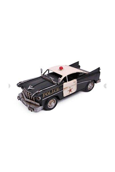 MYA Dekoratif Chevrolet Metal Polis Arabası Hediyelik