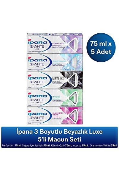 İpana Ipana 3 Boyutlu Beyazlık Luxe 5'li Diş Macunu Seti 375 ml (75ML X5 ADET)