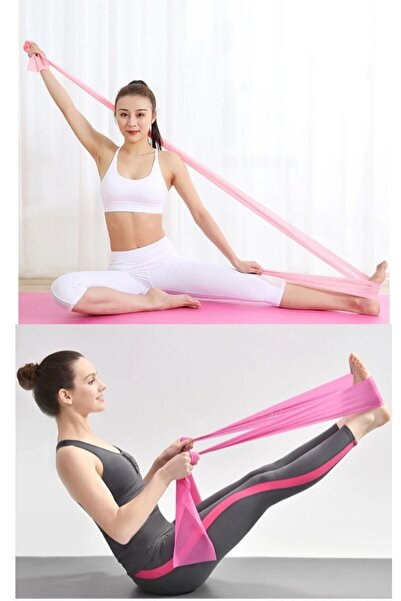 İndirimKap Pilates Bandı Egzersiz Direnç Lastiği Yoga Bandı