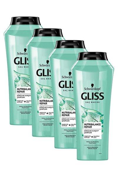 Gliss Nutribalance Repair Saç Dökülmesine Karşı Şampuan 500 ml 4'lü