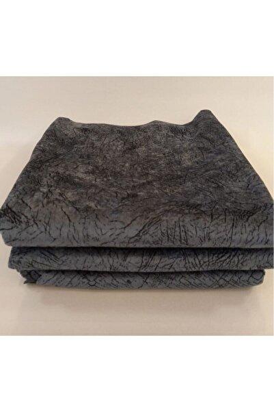 Selçuklu Tekstil Gri Süngerli Koltuk Çekyat Örtüsü Damar Desenli