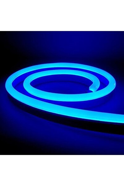 Unicon Teknoloji 3 Metre Neon Şerit Led Mavi 220 Volt Esnek Silikonlu Aydınlatma + Fiş Dahil