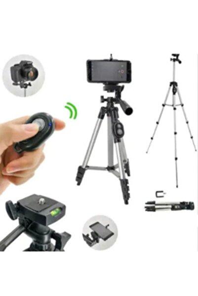 Auris Profesyonel Fotoğraf Video Çekimi Bluetooth Kumandalı 106 Cm Tripot Telefon Tutucu Yotuber Facetime