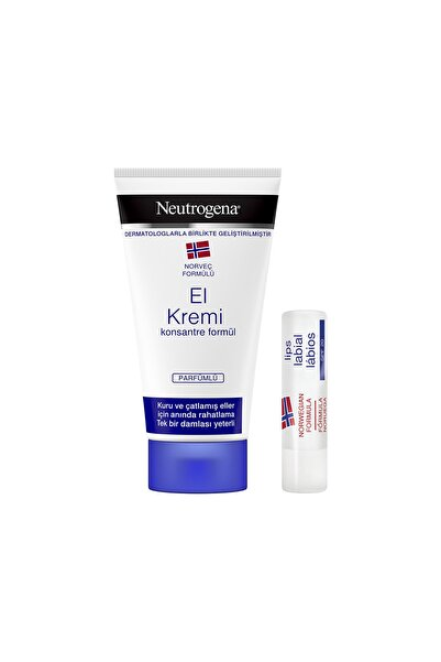 Neutrogena El Kremi Parfümlü + Dudak Kremi Hediye